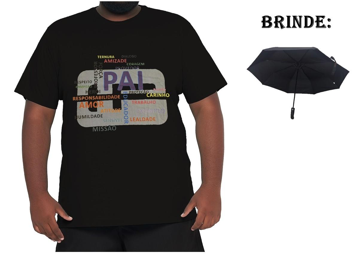 Camiseta Papai Plus Size 100% Algodão + Guarda-Chuva Brinde  - HF | High Flight