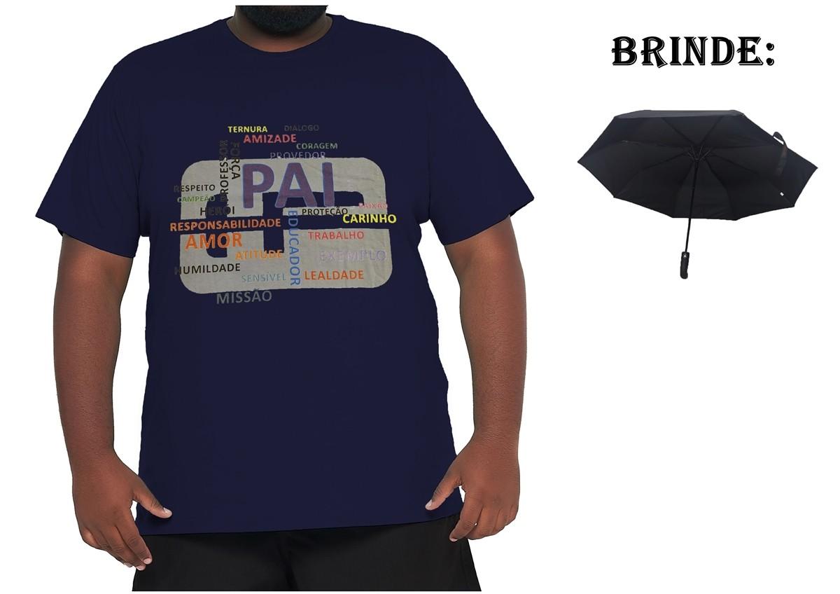 Camiseta Papai XPlusSize 100% Algodão + Guarda-Chuva Brinde  - HF | High Flight