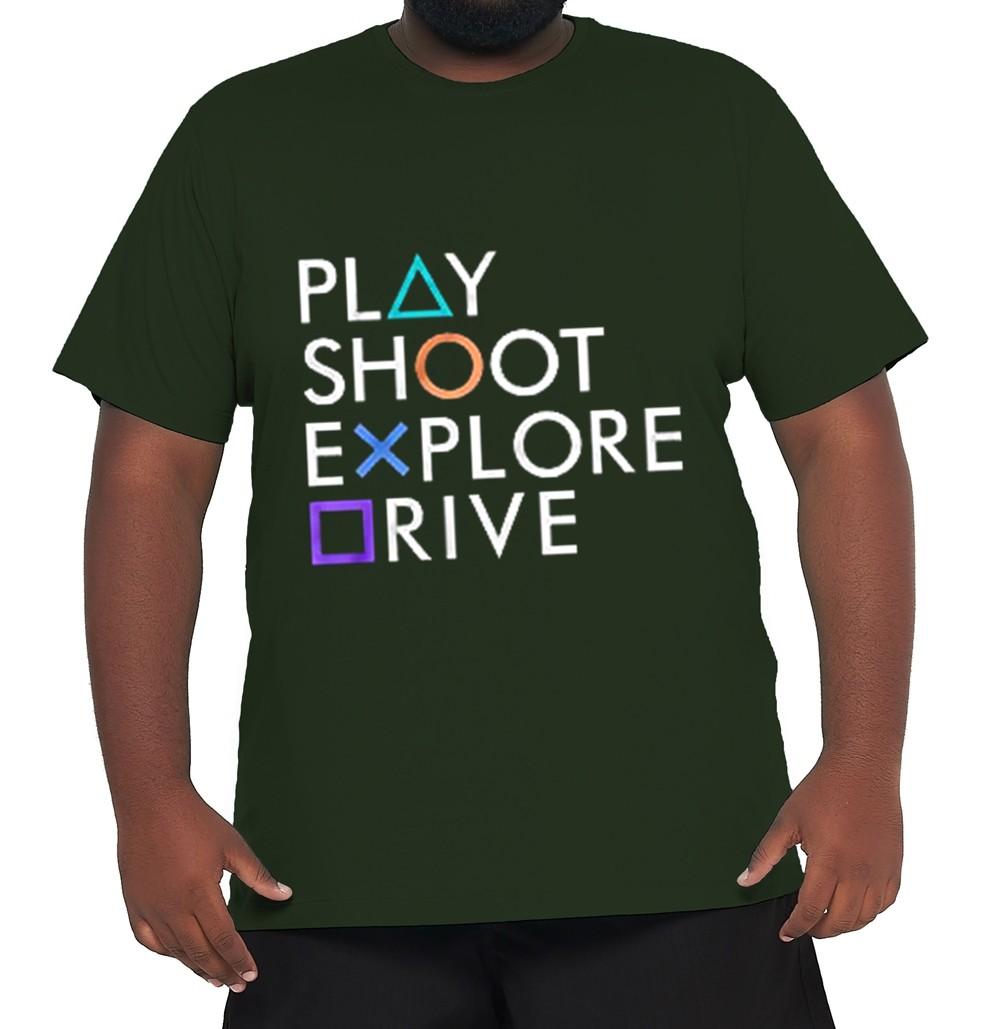 Camiseta Play Station XXPlusSize 100% Algodão  - HF | High Flight