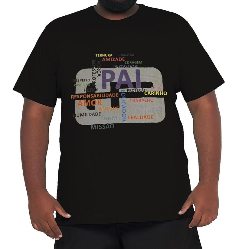 Camiseta Plus Size Papai 100% Algodão  - HF | High Flight