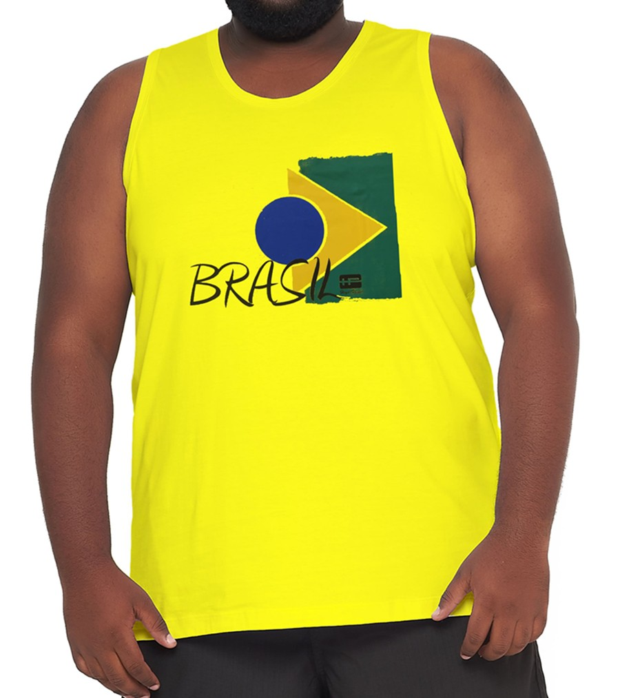 Camiseta Regata Brasil Algodão XPlusSize  - HF | High Flight