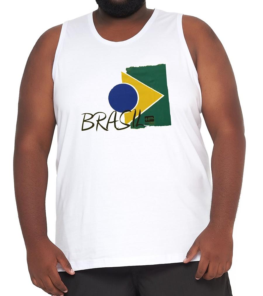 Camiseta Regata Brasil Algodão XXPlusSize  - HF | High Flight