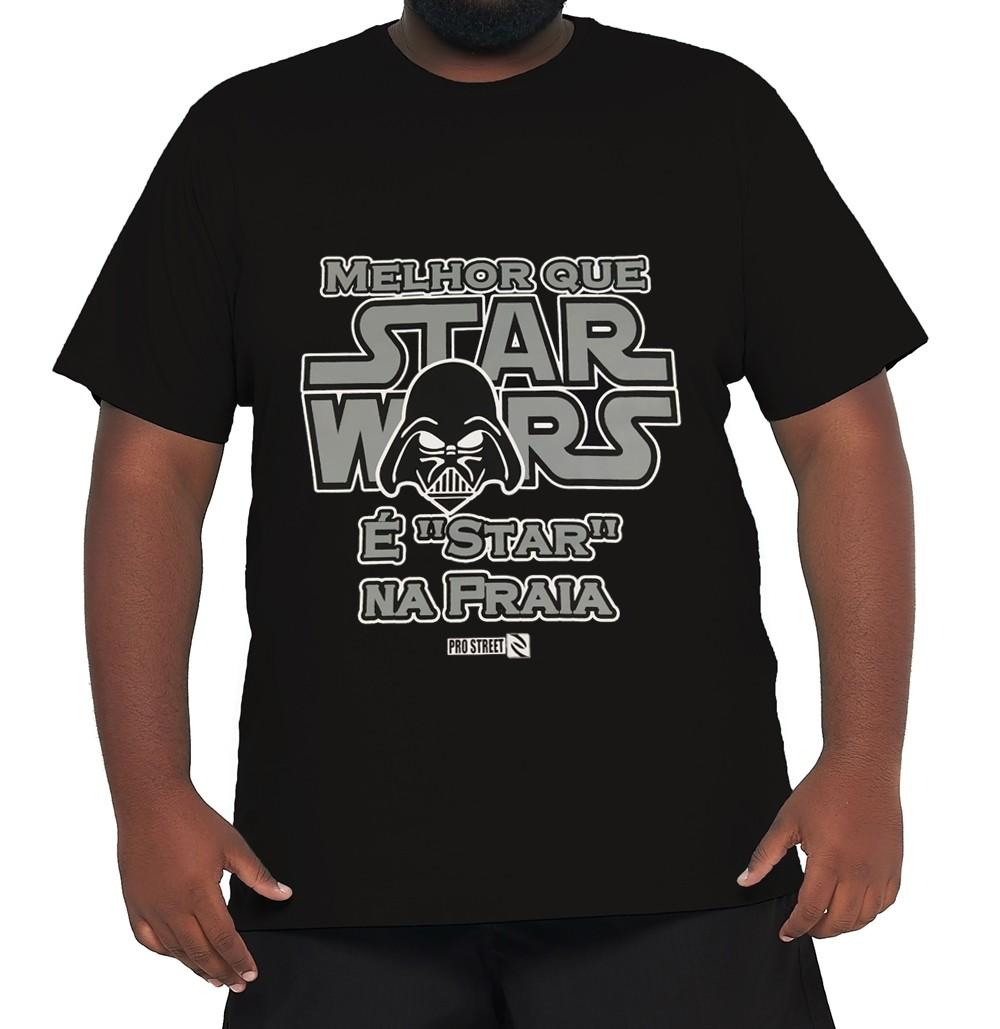 Camiseta Star Wars Plus Size 100% Algodão  - HF | High Flight