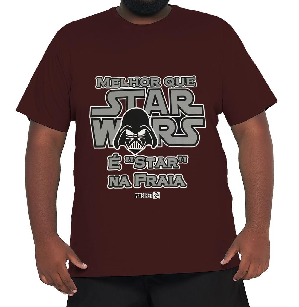 Camiseta Star Wars XPlusSize 100% Algodão  - HF | High Flight
