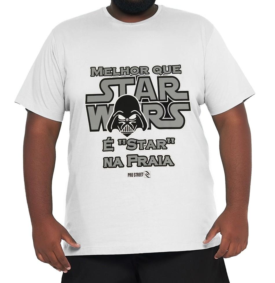 Camiseta Star Wars XXPlusSize 100% Algodão  - HF | High Flight