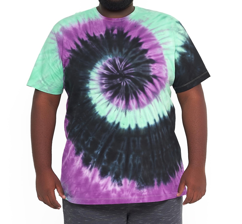 Camiseta Tie Dye Multi Cores Hippie Espiral Plus Size  - HF | High Flight
