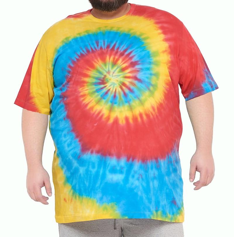 Camiseta Tie Dye Multi Cores Hippie Espiral XPlusSize  - HF | High Flight