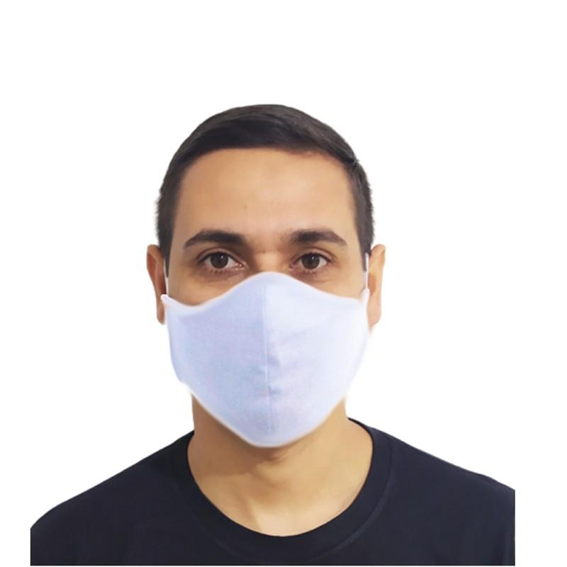 Kit 100 Máscaras Brancas Lavável Protetora Promoção Atacado  - HF | High Flight