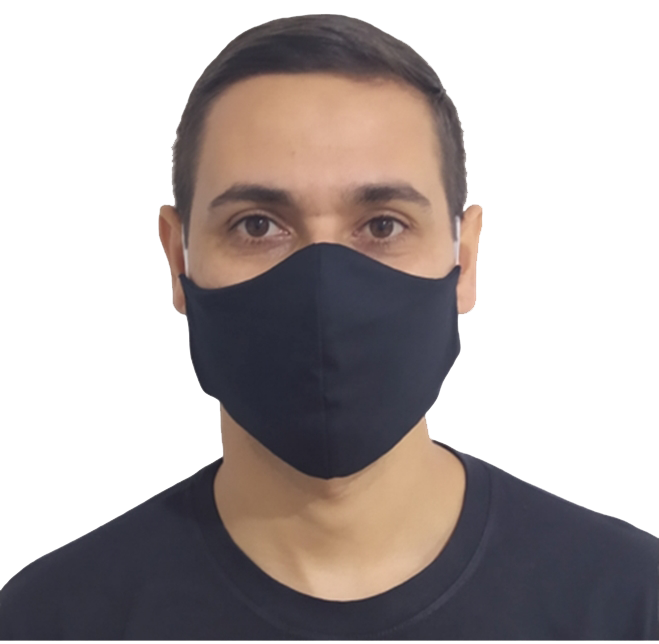 Kit 100 Máscaras Pretas Lavável Protetora  Atacado  - HF | High Flight