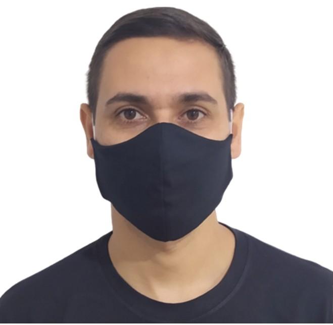 Kit 100 Máscaras Pretas Lavável Protetora Promoção Atacado  - HF | High Flight