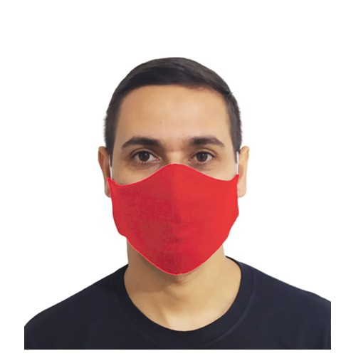 Kit 100 Máscaras Vermelha Lavável Protetora Promoção Atacado  - HF | High Flight