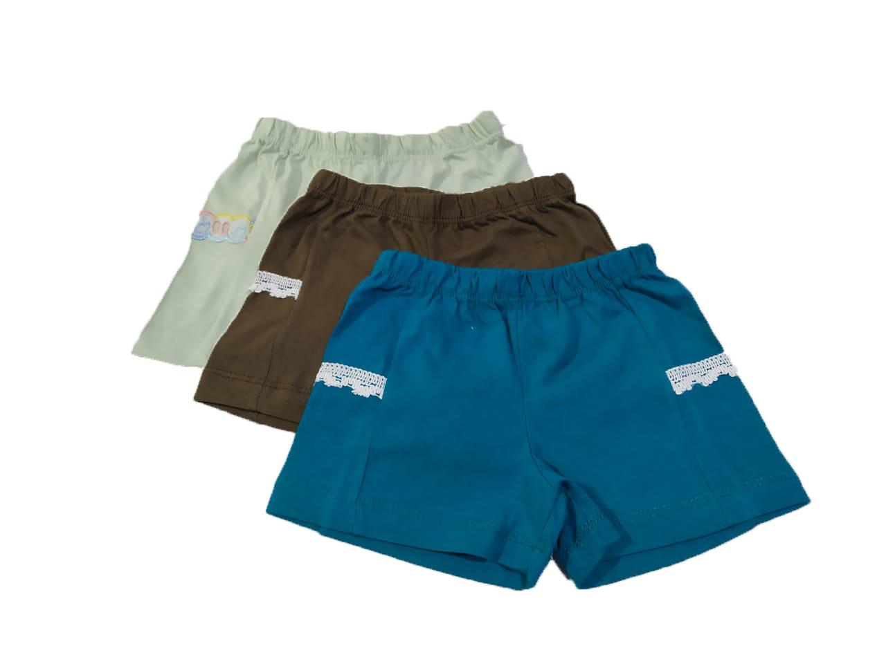 Kit 10 Shorts Bebê Menina Infantil 100% Algodão Atacado  - HF | High Flight