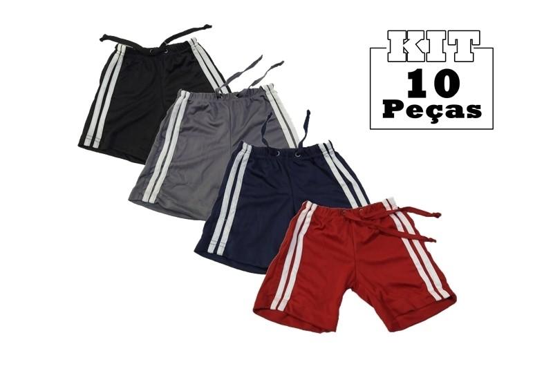 Kit 10 Shorts Bebê Menino Infantil 100% Poliéster Atacado  - HF | High Flight