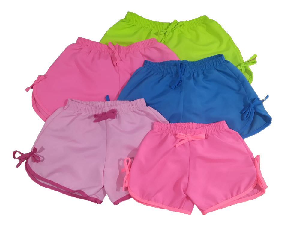 Kit 10 Shorts Menina Microfibra Praia Piscina Multicores  - HF | High Flight