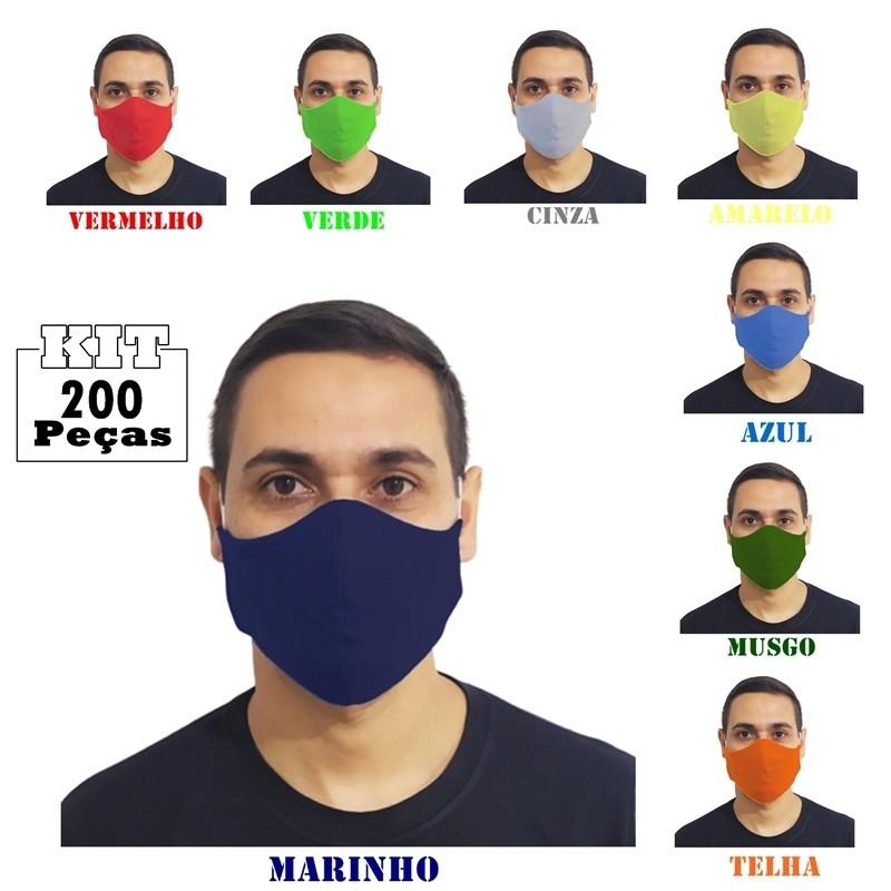 Kit 200 Máscaras 100% Algodão Lavável Atacado para Revenda  - HF | High Flight