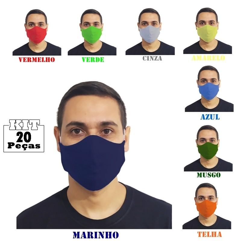 Kit 20 Máscaras Tradicionais 100% Algodão  - HF | High Flight