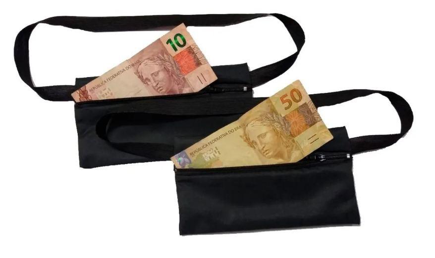 Kit 2 Pochetes Porta-dólar Doleira Dinheiro Documentos  - HF | High Flight
