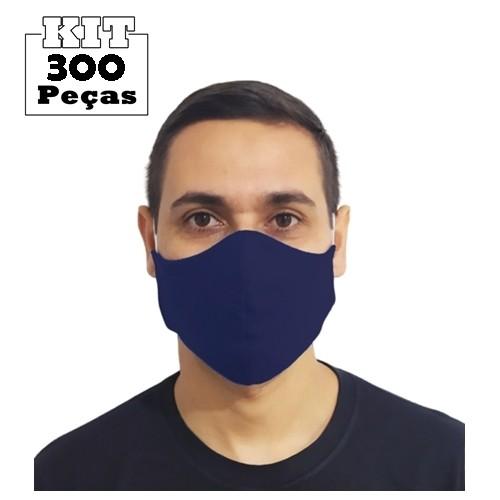Kit 300 Máscaras Marinho Tradicionais 100% Algodão  - HF | High Flight