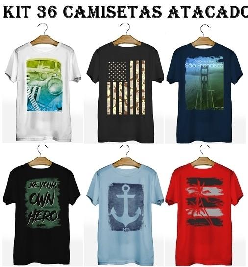 Kit 36 Camisetas T-Shirt Plus Size para Revenda Atacado  - HF | High Flight