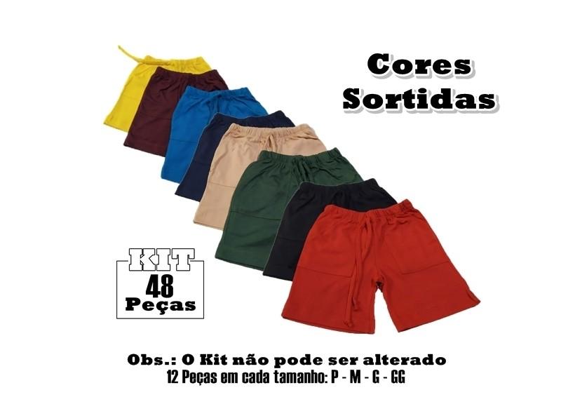 Kit 48 Shorts Bebê Menino Infantil 100% Algodão para Revenda  - HF | High Flight