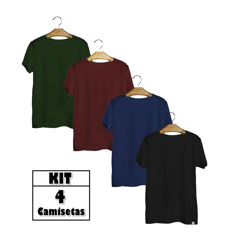 Kit 4 Camisetas Xxplus Size Básica Elegante 100% Algodão  - HF | High Flight