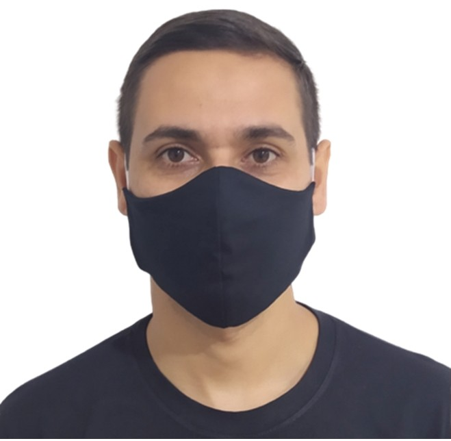 Kit 50 Máscaras Pretas Protetora Lavável Promoção Atacado  - HF | High Flight