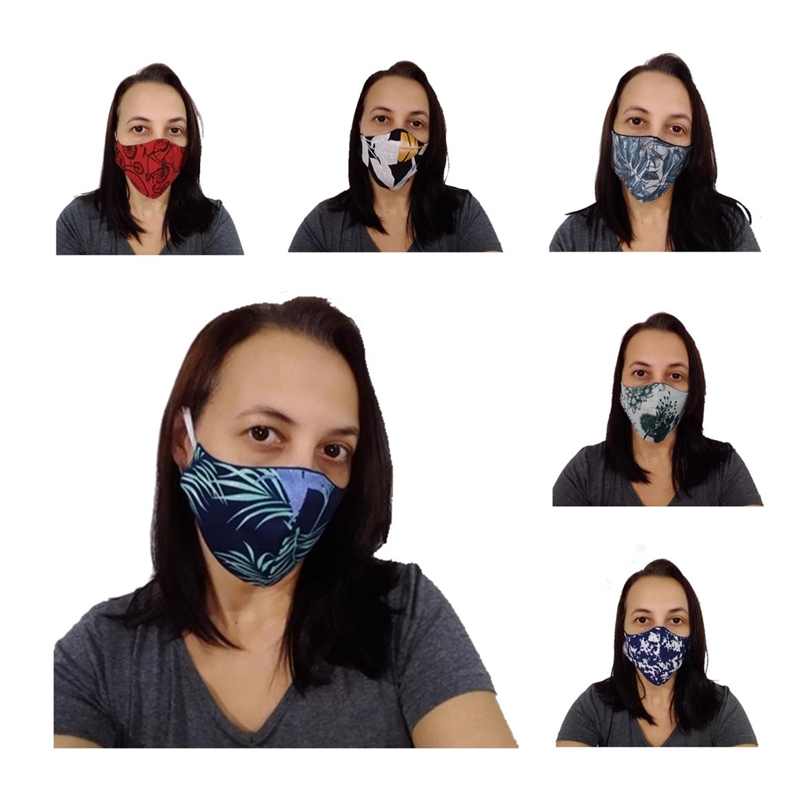 Kit 50 Máscaras Tradicionais 100% Algodão  - HF | High Flight