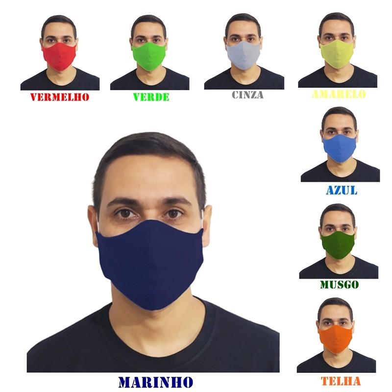 Kit 5 Máscaras Tradicionais Lavável 100% Algodão  - HF | High Flight
