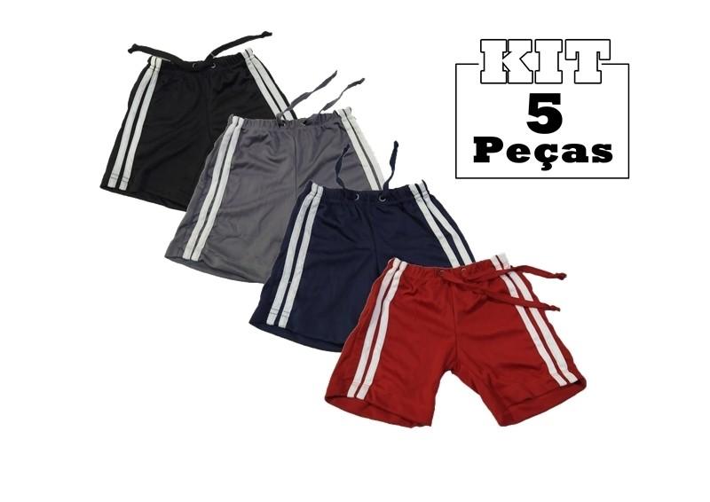 Kit 5 Shorts Bebê Menino Infantil 100% Poliéster Atacado  - HF | High Flight