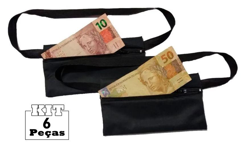 Kit 6 Pochetes Porta-dólar Doleira Dinheiro Documentos  - HF | High Flight