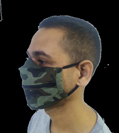 Máscara Divertida com Zíper  - HF | High Flight
