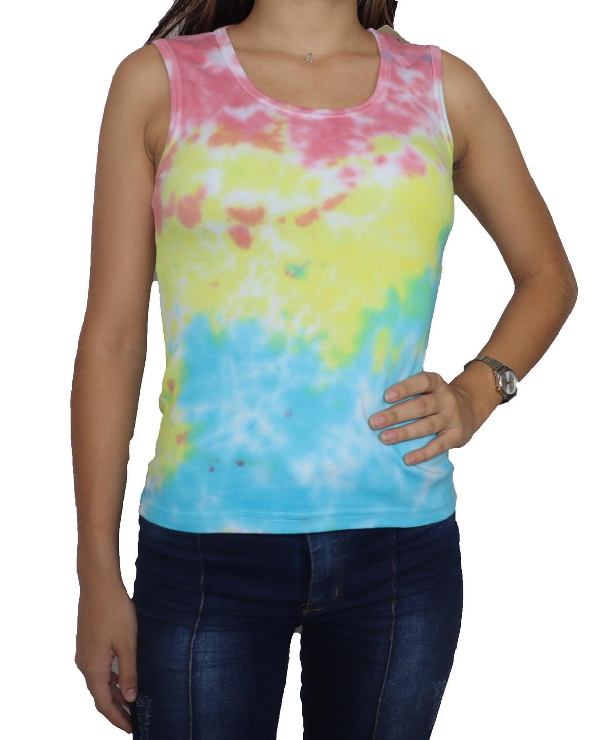 Regata Camiseta Feminina Tie Dye Gospel  - HF | High Flight
