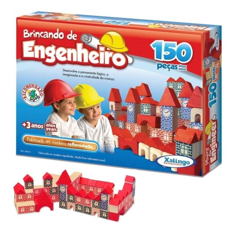 Brincando de Engenheiro 150 peças Xalingo
