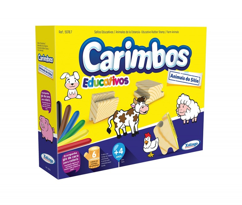 Carimbos Educativos Animais do Sítio Xalingo
