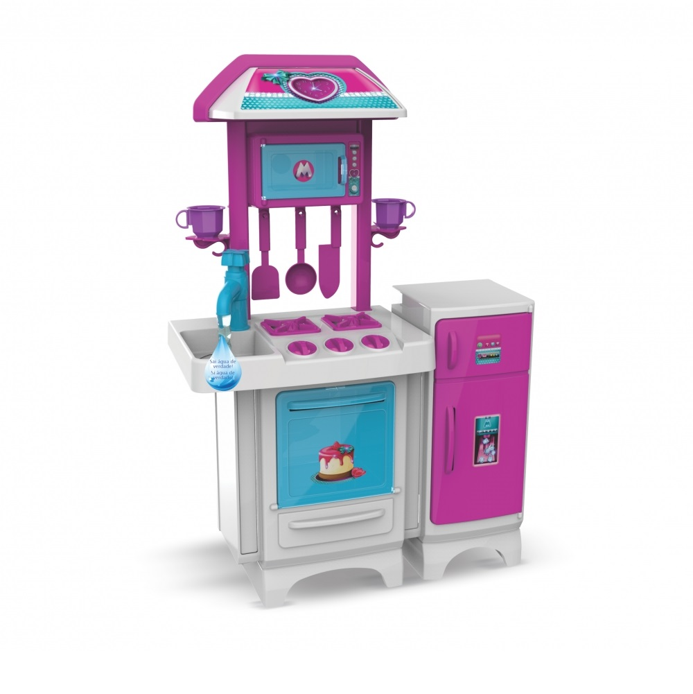 Cozinha Completa Pink com Água