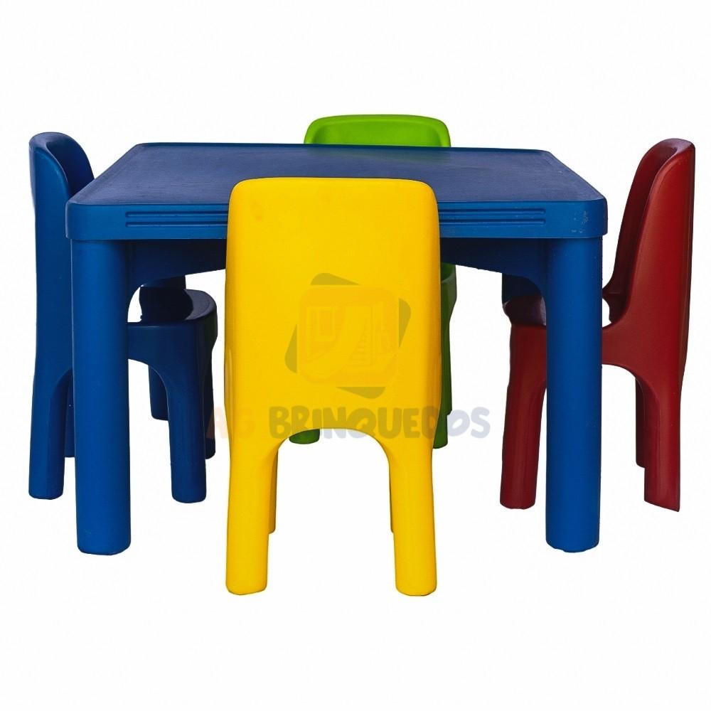 Kit Conjunto Infantil c/ 4 Cadeiras
