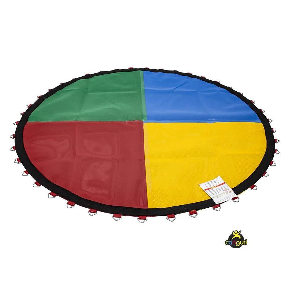 Lona de Salto Quadricolor para Cama Elástica 2m 42 Molas