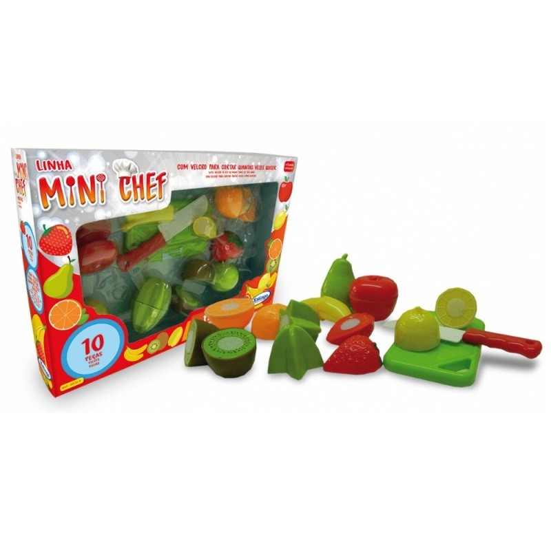 Mini Chef Frutas 10 Pçs Xalingo