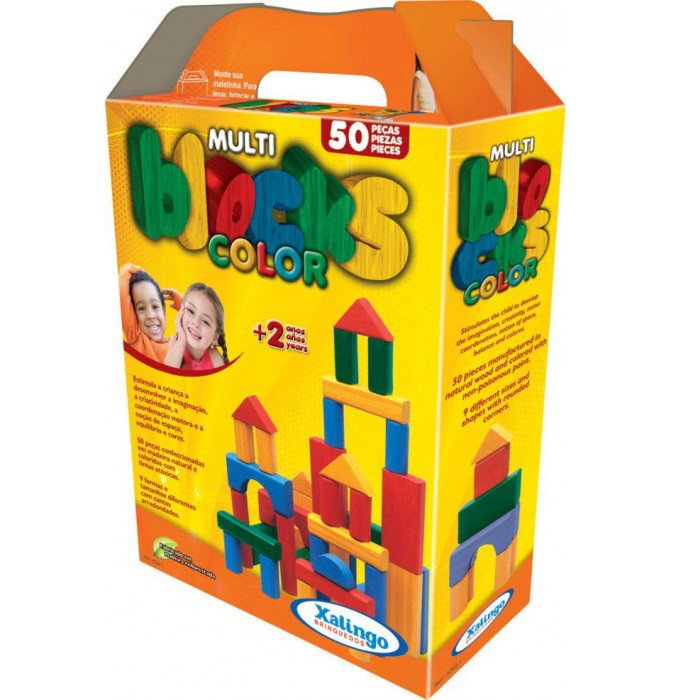 Multiblocks Colorido 50 pçs Xalingo