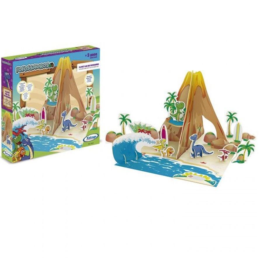 Playset Ilha dos Fofossauros Xalingo