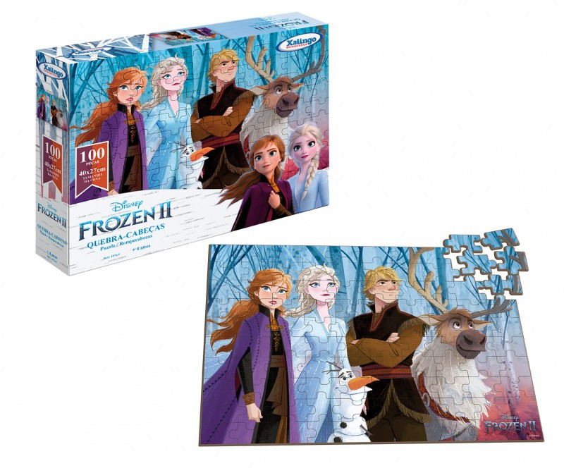 Quebra-cabeça 100 peças Frozen Disney Xalingo
