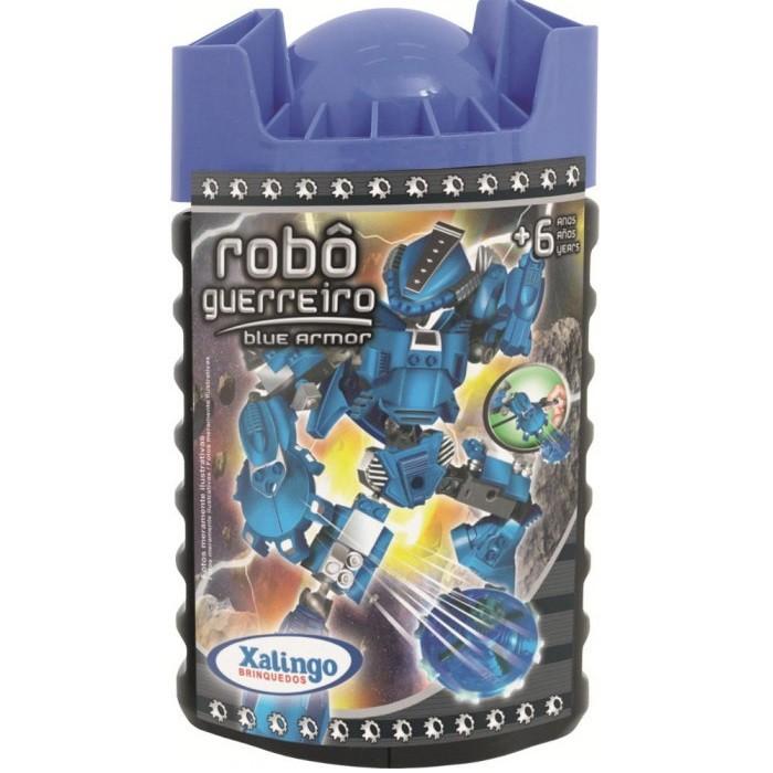 Robô Guerreiro Blue Armor 65 pçs Xalingo