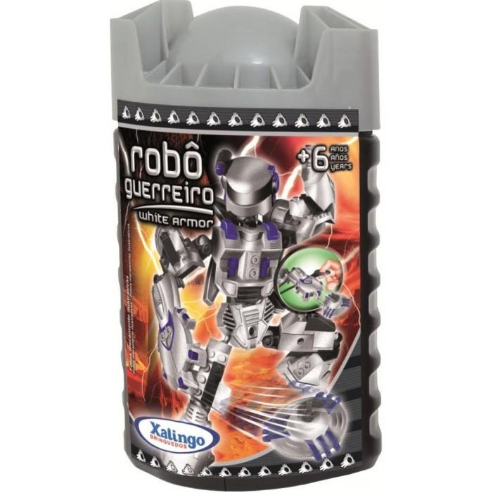 Robô Guerreiro White Armor 55 pçs Xalingo