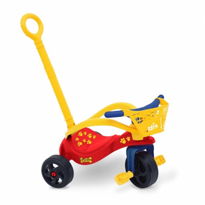 Triciclo Cachorrinho c/ Empurrador, Proteção e Cestinha Xalingo