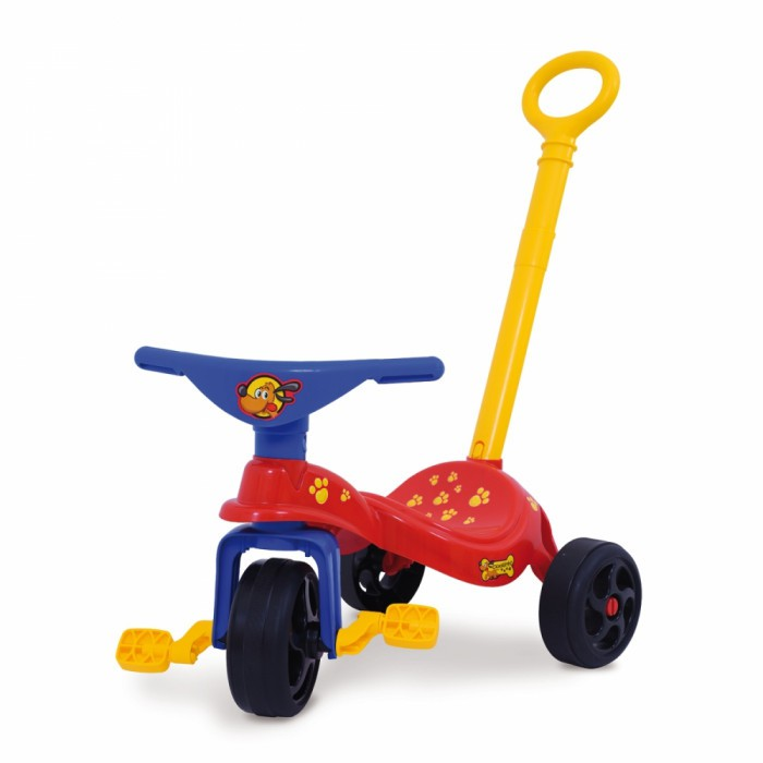 Triciclo Cachorrinho c/ Empurrador Xalingo