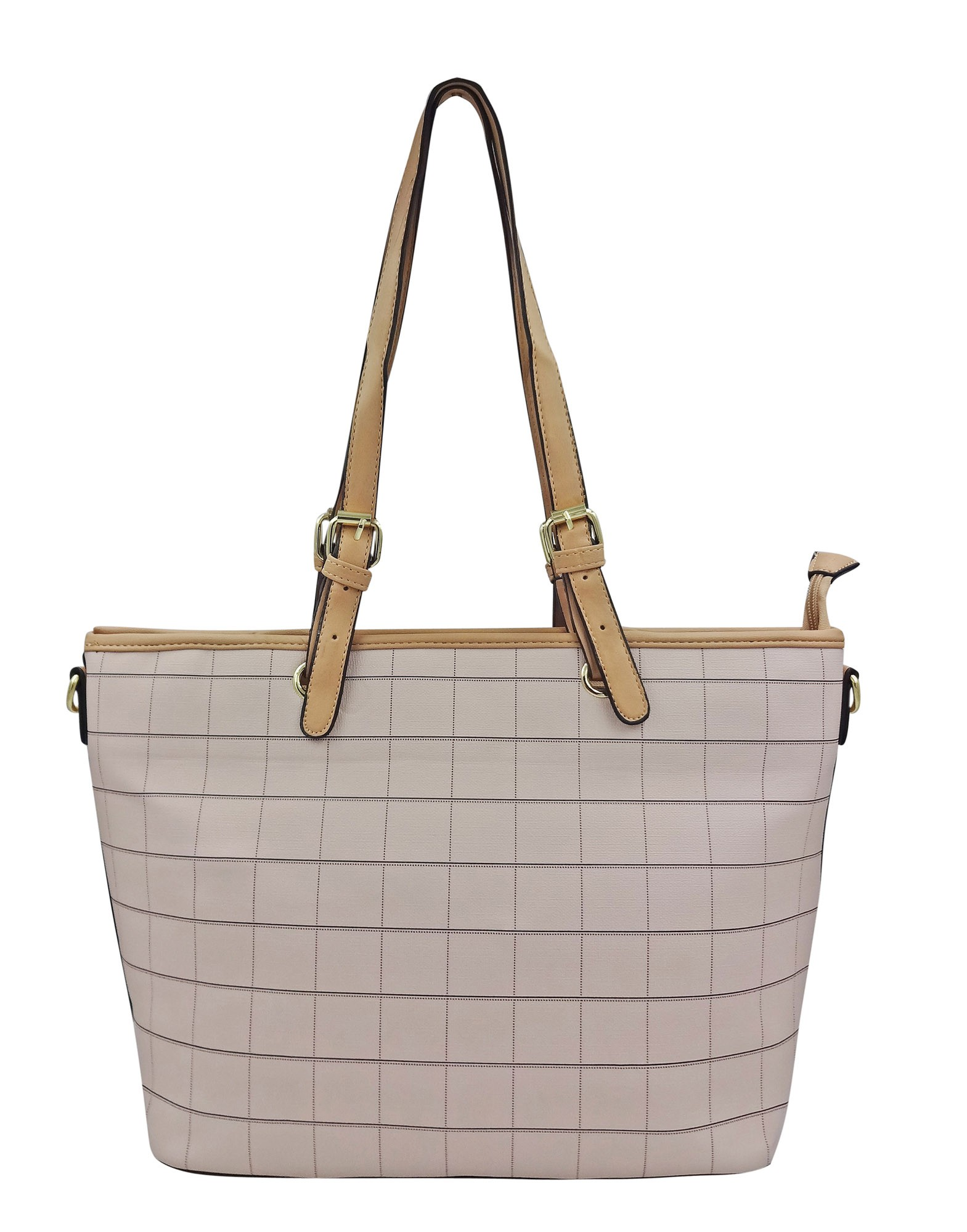Bolsa Feminina Shopper Estampa Quadriculada
