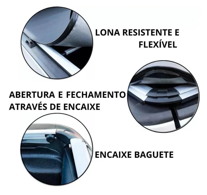 Capota Maritima Fiat Strada Cabine Dupla 2014 a 2019 Slim Encaixe