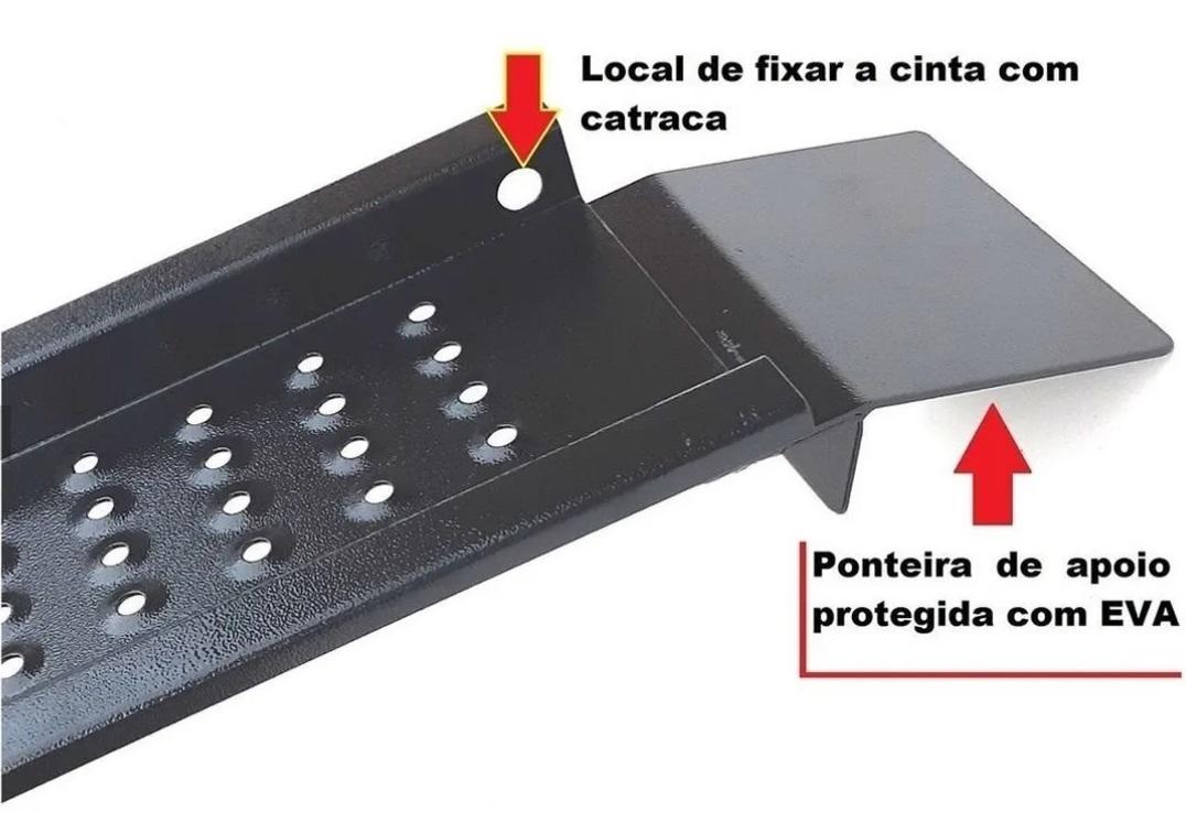 Rampa Para Subir Moto Caçamba Strada Saveiro picapes Cab. Simples Dobrável