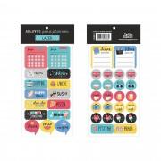 Adesivos para planner: Lazer - Cartões Gigantes