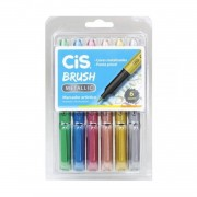 Brush Pen Metallic Cis c/6 cores